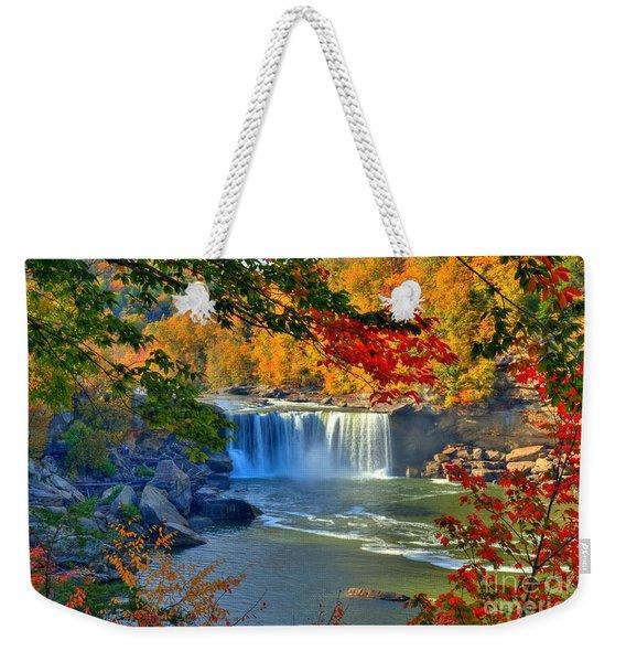 Cumberland Falls In Autumn 2 Weekender Tote Bag