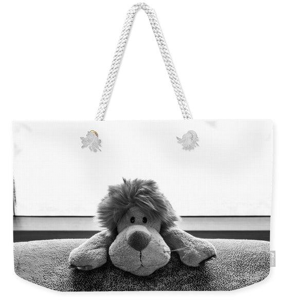 Curious Leo Weekender Tote Bag