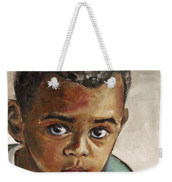 Curious Little Boy Weekender Tote Bag