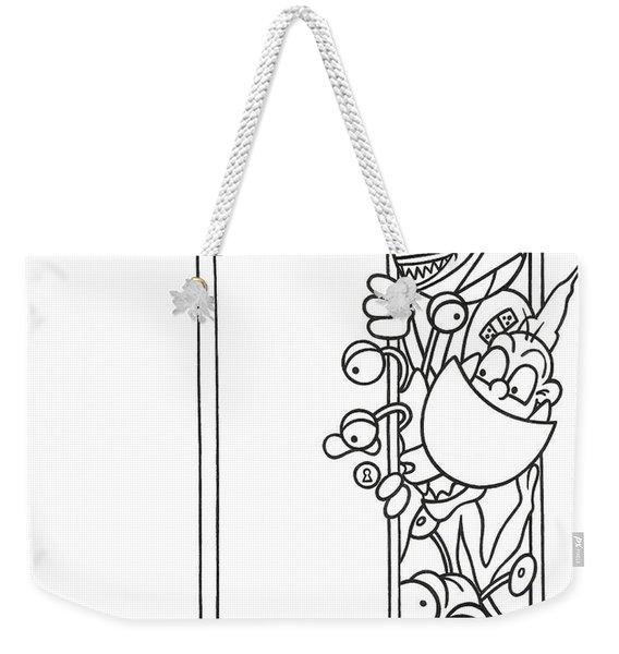 Curious Monster Weekender Tote Bag