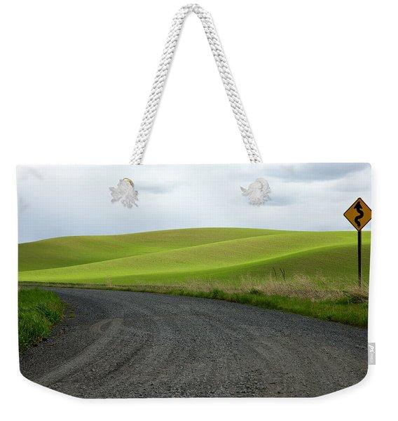 Curves Ahead Weekender Tote Bag