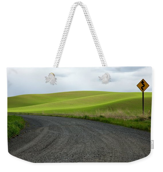Weekender Tote Bag featuring the photograph Curves Ahead by Mary Lee Dereske