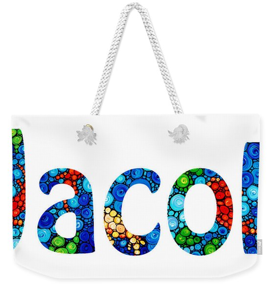 Customized Baby Kids Adults Pets Names - Jacob Name Weekender Tote Bag
