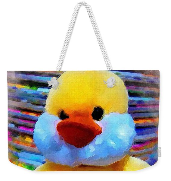 Cute Ducky Weekender Tote Bag