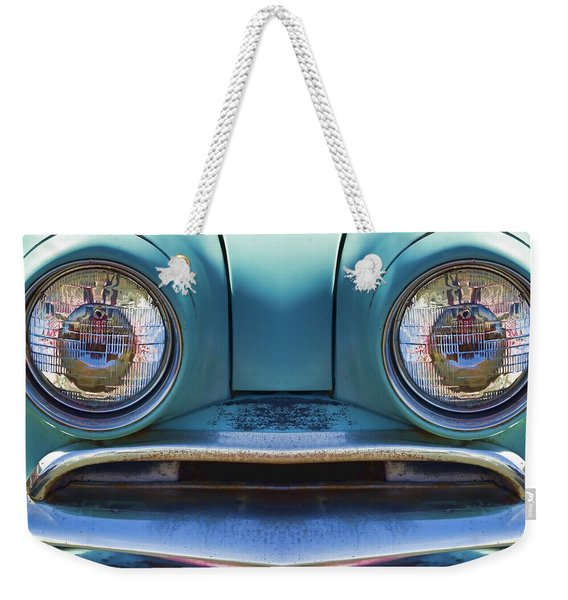 Cute Little Car Faces Number 1 Weekender Tote Bag