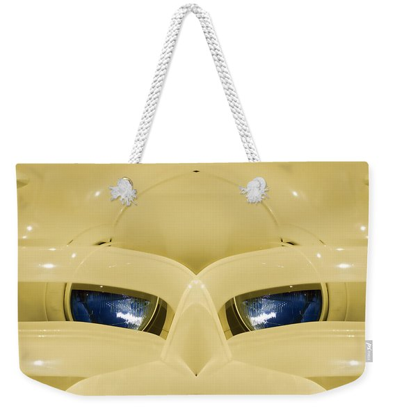 Cute Little Car Faces Number 3 Weekender Tote Bag