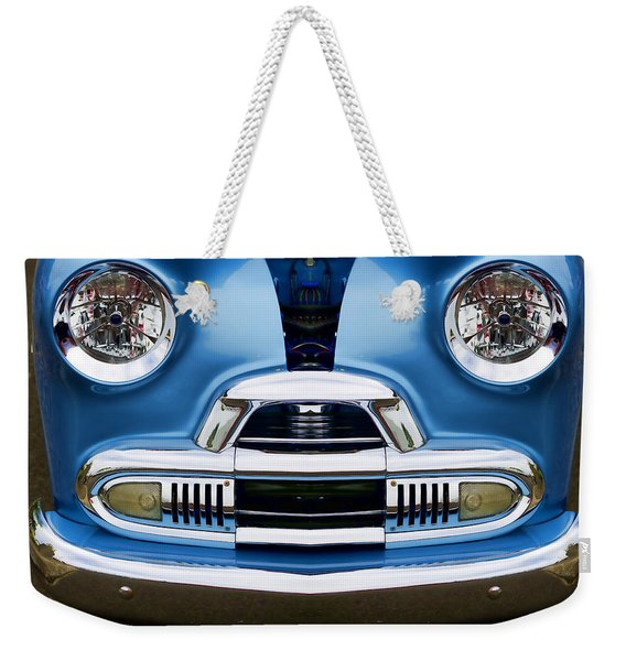 Cute Little Car Faces Number 4 Weekender Tote Bag