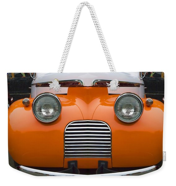 Cute Little Car Faces Number 5 Weekender Tote Bag