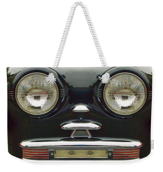 Cute Little Car Faces Number 6 Weekender Tote Bag