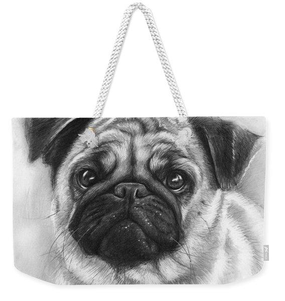 Cute Pug Weekender Tote Bag
