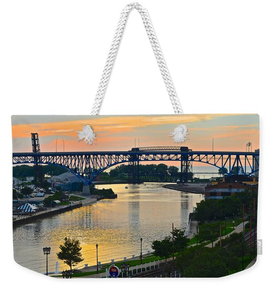 Cuyahoga River Cleveland Ohio Weekender Tote Bag