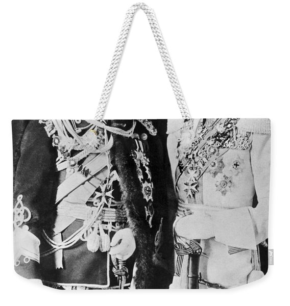Czar Nicholas And King George V Weekender Tote Bag