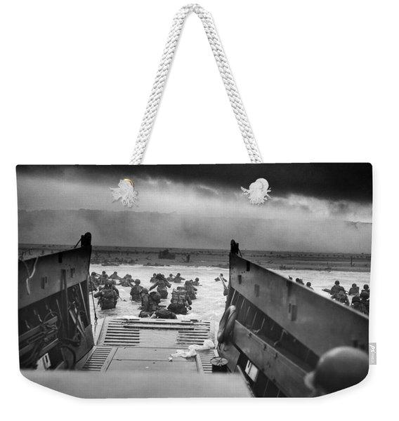 D-day Landing Weekender Tote Bag