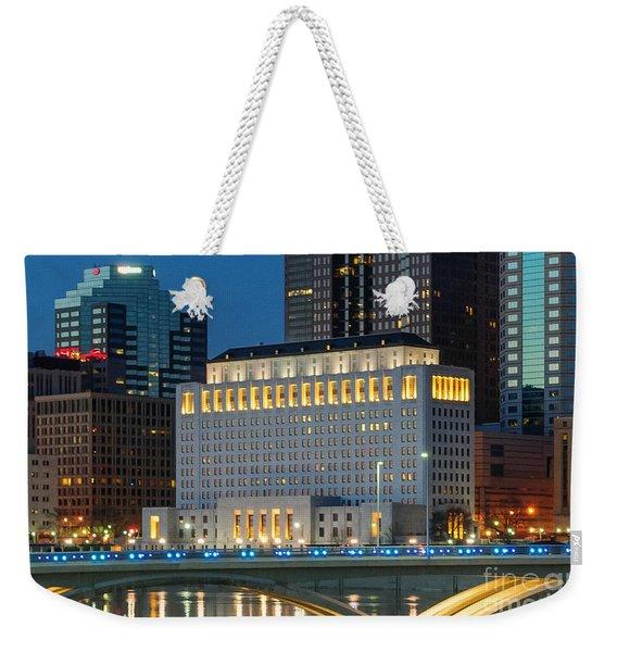 D2l496 Columbus Ohio Night Skyline  Weekender Tote Bag