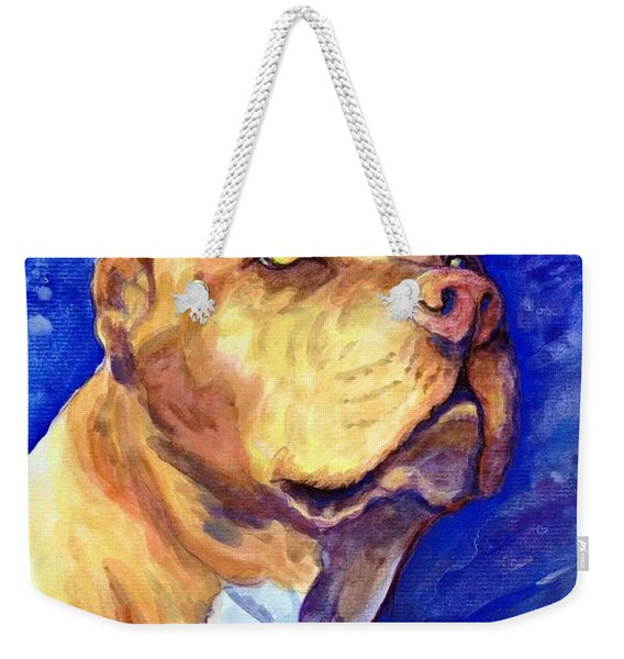 Weekender Tote Bag featuring the painting Daddy by Ashley Kujan