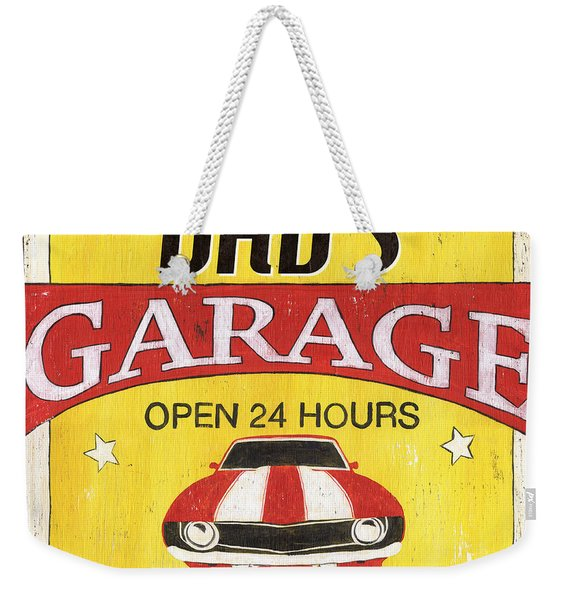 Dad's Garage Weekender Tote Bag