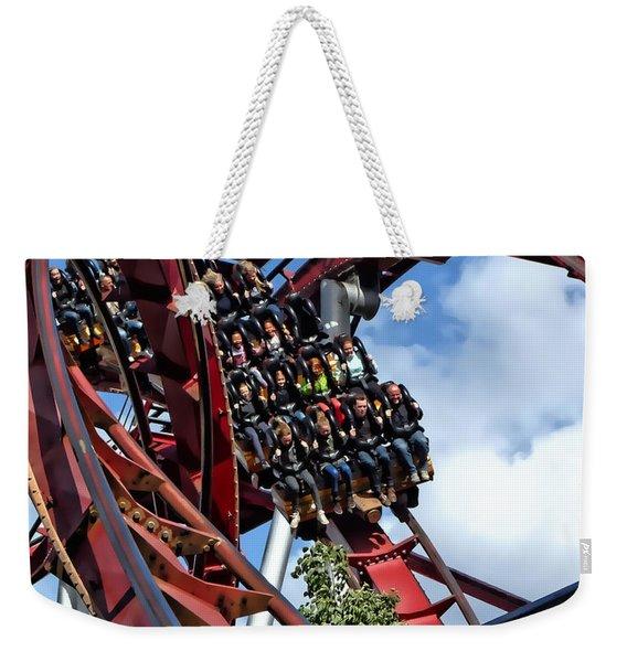 Daemonen - The Demon Rollercoaster - Tivoli Gardens - Copenhagen Weekender Tote Bag