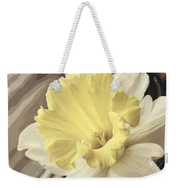 Daffadil In Yellow And White Weekender Tote Bag