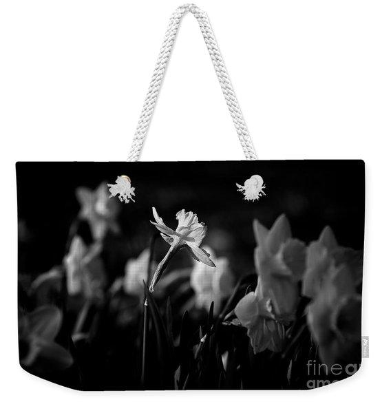 Daffodils In Black And White Weekender Tote Bag