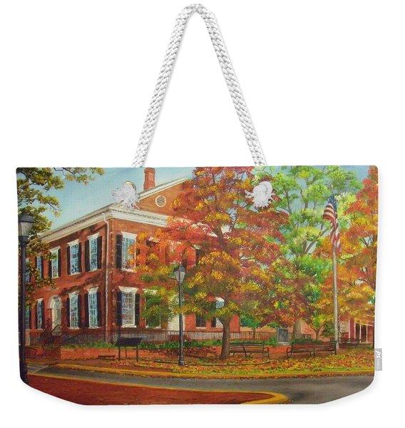 Dahlonega's Gold Museum In Autumn Weekender Tote Bag