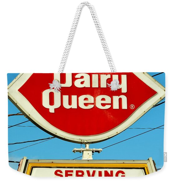 Dairy Queen Sign Weekender Tote Bag