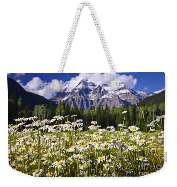 Daisies At Mount Robson Weekender Tote Bag