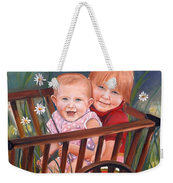 Daisy - Portrait - Girls In Wagon Weekender Tote Bag