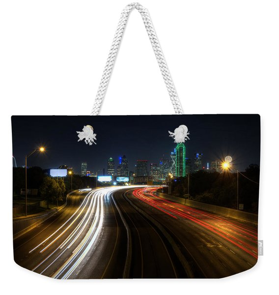 Dallas Night Light Weekender Tote Bag