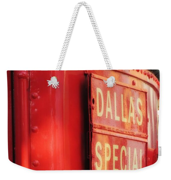 Dallas Special Front Entrance Weekender Tote Bag