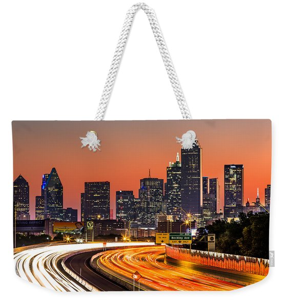 Weekender Tote Bag featuring the photograph Dallas Sunrise by Mihai Andritoiu