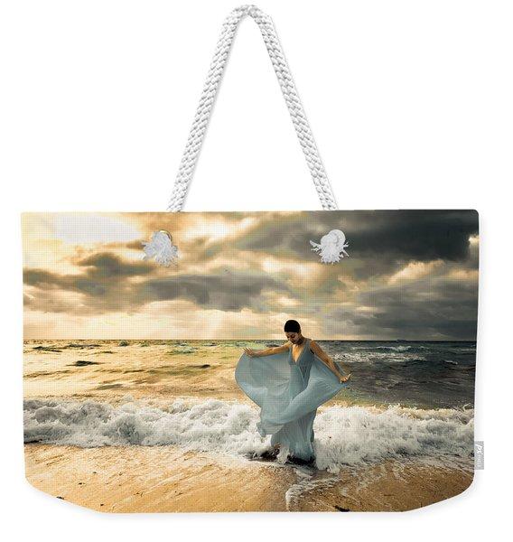 Dancing In The Surf Weekender Tote Bag