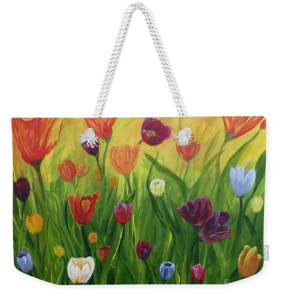 Dancing Tulips Weekender Tote Bag