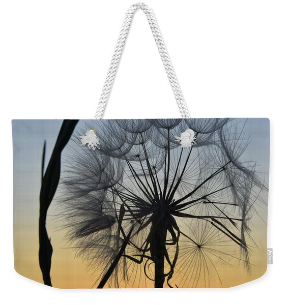 Weekender Tote Bag featuring the photograph Dandy Lion by Skip Hunt
