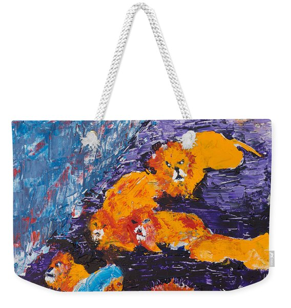 Daniel And The Lions Weekender Tote Bag