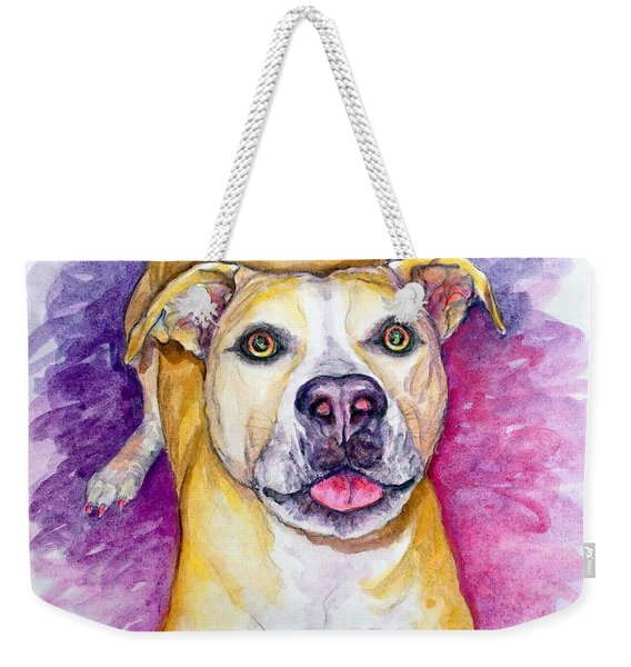 Weekender Tote Bag featuring the painting Daphne by Ashley Kujan