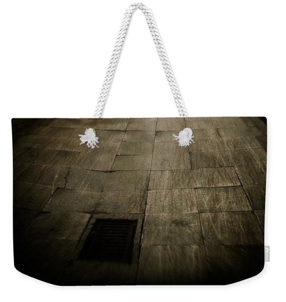 Dark Alley In Old Historic City Weekender Tote Bag