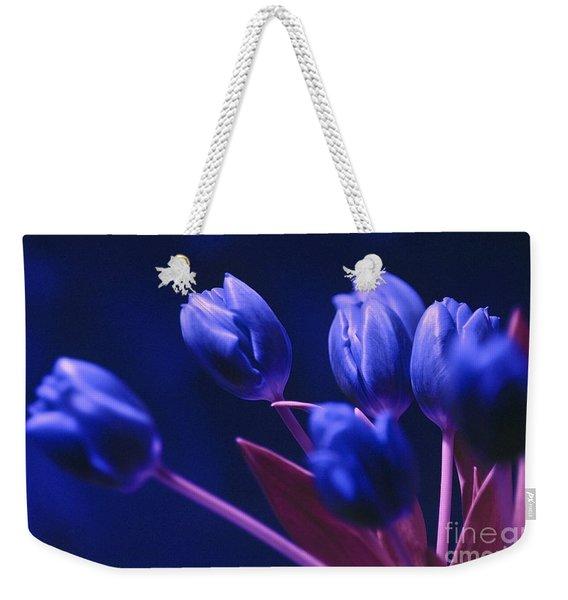 Dark Blue Tulips Weekender Tote Bag