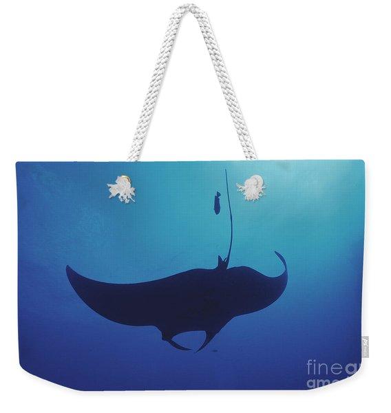 Dark Manta Weekender Tote Bag