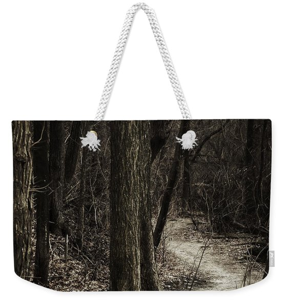 Dark Winding Path Weekender Tote Bag