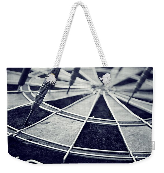 Darts Anyone Weekender Tote Bag