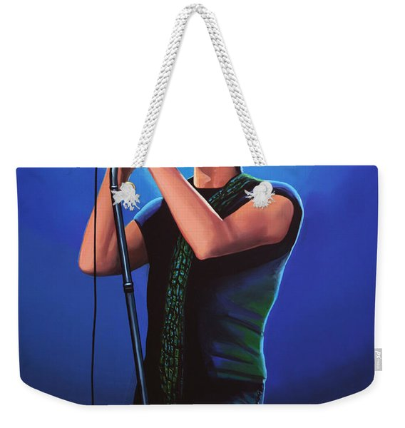 David Bowie 2 Painting Weekender Tote Bag