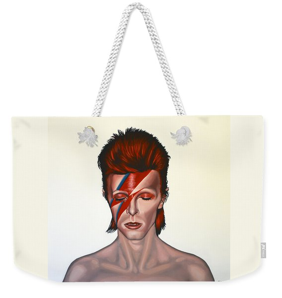 David Bowie Aladdin Sane Weekender Tote Bag