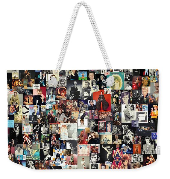 David Bowie Collage Weekender Tote Bag