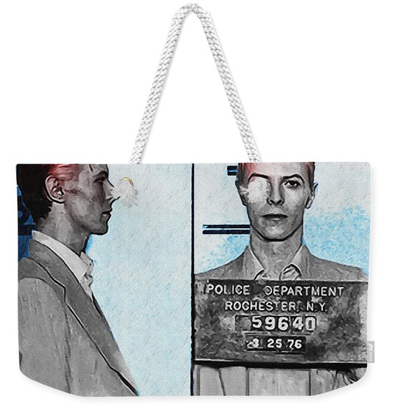 David Bowie Mug Shot Weekender Tote Bag