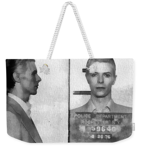 David Bowie Mug Shot Weekender Tote Bag