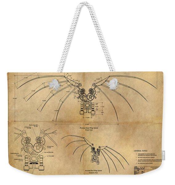 Davinci's Wings Weekender Tote Bag