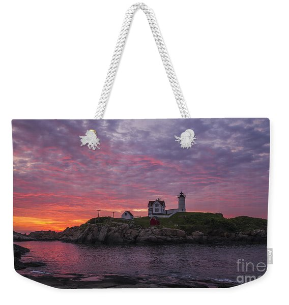 Dawn At The Nubble Weekender Tote Bag