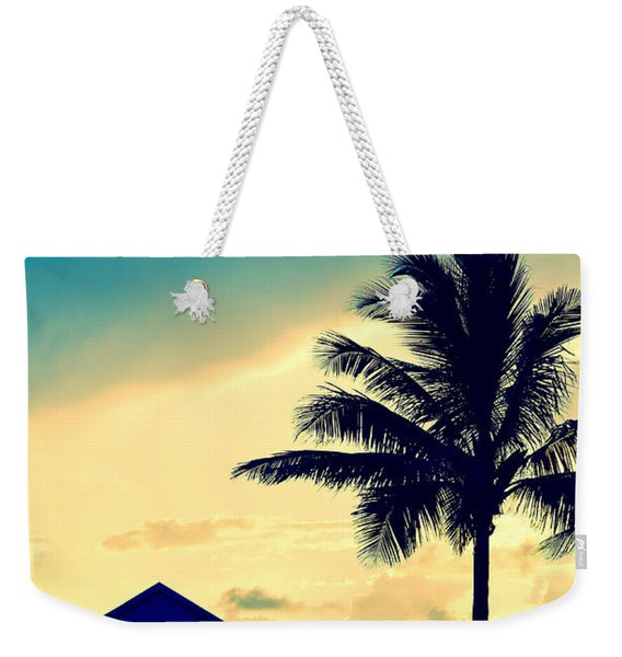 Dawn Beach Pyramid Weekender Tote Bag