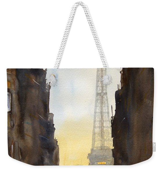 Dawn In Paris Weekender Tote Bag