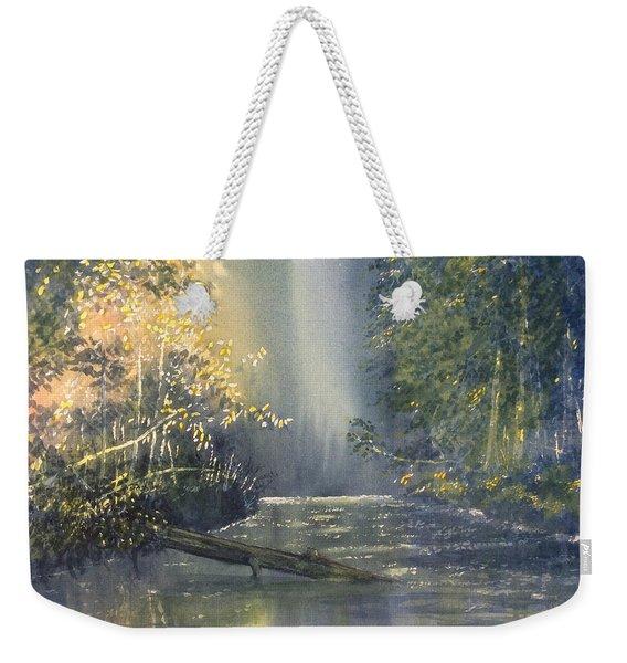 Dawn On The Derwent Weekender Tote Bag